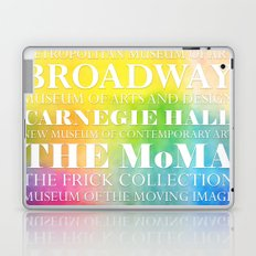 New York Arts - white text on color Laptop & iPad Skin