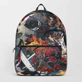 Carnage Comic2Canvas Comic Book Art Collage Backpack