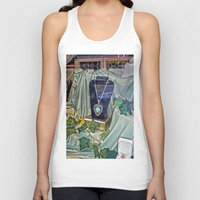 shopping Tank Tops featuring Window Shopping by Frankie Cat