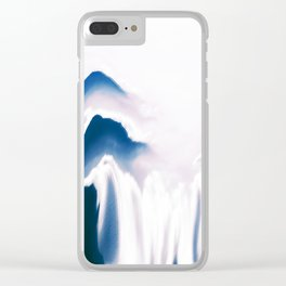 Distorted Blue Mountains I Clear iPhone Case
