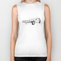 delorean Biker Tanks featuring DeLorean DMC-12 by Martin Lucas