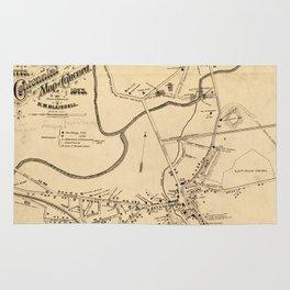 Vintage Battle of Concord Map (1875) Rug