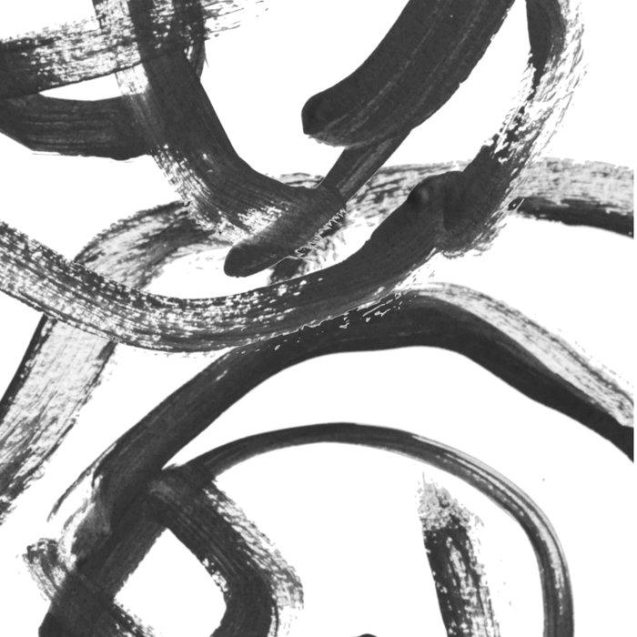 Interlock black and white paint swirls Duvet Cover