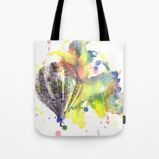 Hot Air Balloon Rising in Color Tote Bag