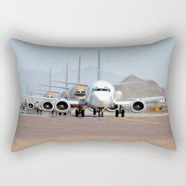 Busy Airport Lineup Rectangular Pillow