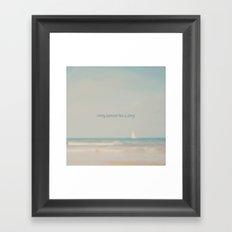 every summer has a story ...  Framed Art Print