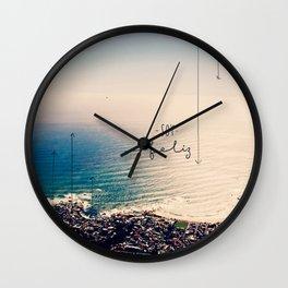 Soy Feliz Wall Clock