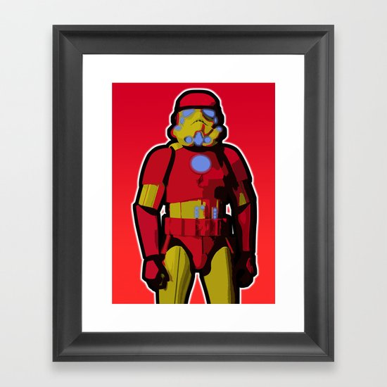 iron trooper Framed Art Print
