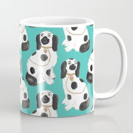 Staffordshire Dog Figurines No. 2 in Vivid Jade Coffee Mug
