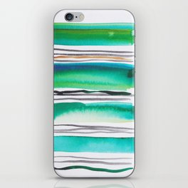 9  |181026 Lines & Color Block | Watercolor Abstract | Modern Watercolor Art iPhone Skin