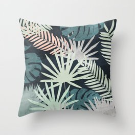 Tropicalia Night Throw Pillow