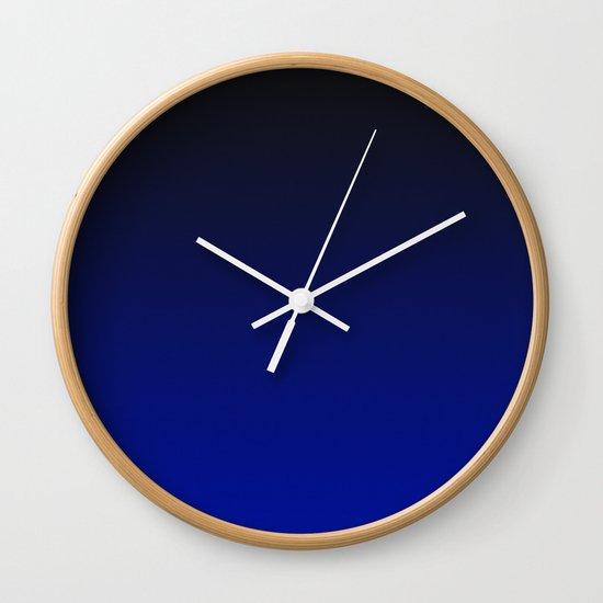 Cobalt blue Ombre Wall Clock