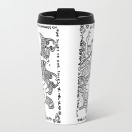 Diamonds on the Soles of Her Shoes  (Two of diamonds, bellydancer and camels) Travel Mug