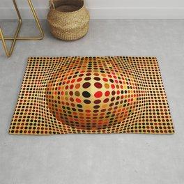 Ball illusion art Rug
