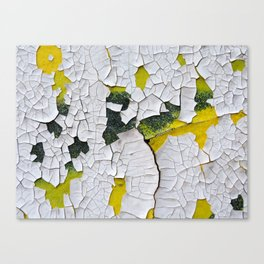 Cracked paint, abstract background Canvas Print