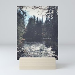 forest by the river Mini Art Print