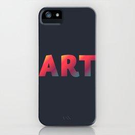 Art, minimalist typography, minimalist illustration, colorful, inspiring wall ar, inspirational word iPhone Case