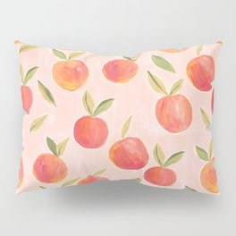 Peaches gouache painting Pillow Sham