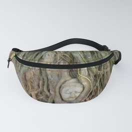 Buddha Head in Tree Roots Fanny Pack