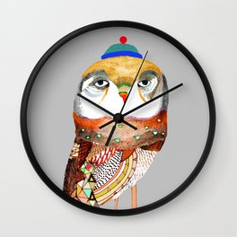Hat Owl. Wall Clock