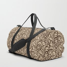 William Morris Thistle Damask, Taupe Tan and Beige Duffle Bag