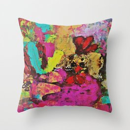 Colorful Cockerel Throw Pillow