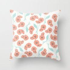 Retro flowers 001 Throw Pillow
