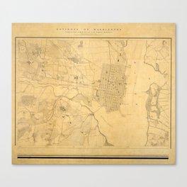 Vintage Map of Alexandria VA (1864) Canvas Print
