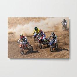 Motocross race Metal Print