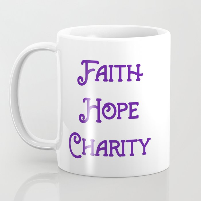 God and I are good. Purple Coffee Mug