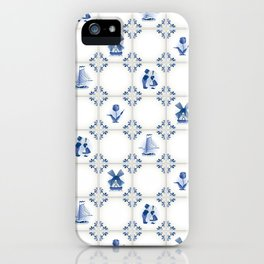 Delft Blue Holland Pottery iPhone Case