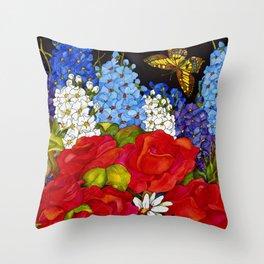 Beau Jardin Throw Pillow