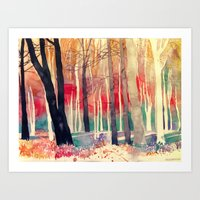 woods Art Prints featuring Woods by takmaj