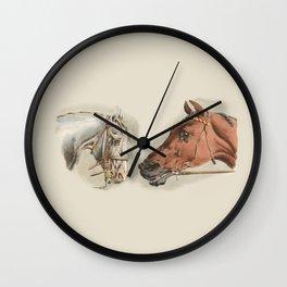 Two Horses Wall Clock
