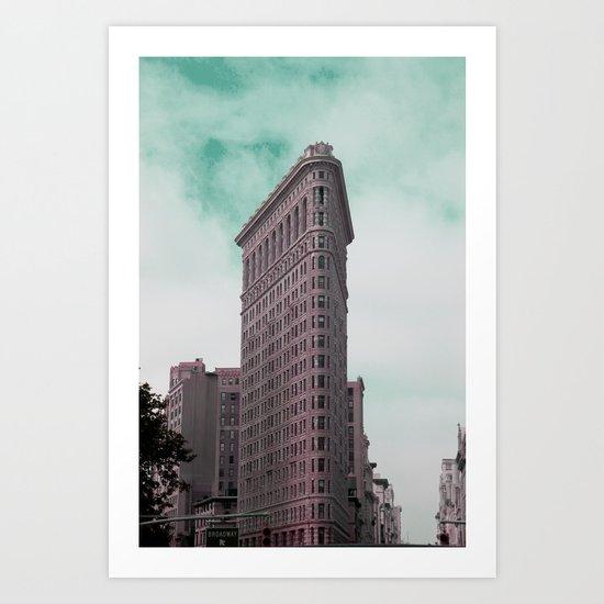 Broadway Corner New York City Art Print