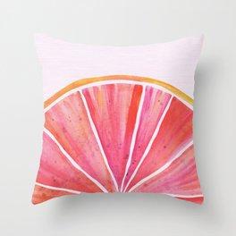 Sunny Grapefruit Watercolor Throw Pillow