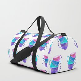 Stacked teacups Duffle Bag