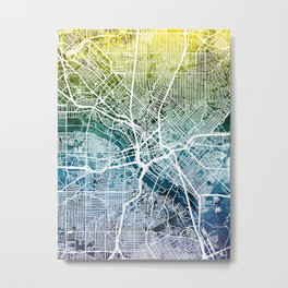 Dallas Texas City Map Metal Print