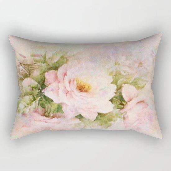 delicate vintage rose Rectangular Pillow