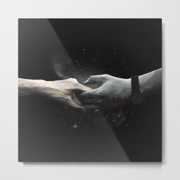 [LOVE] Sea meets Mountain - Hands Metal Print