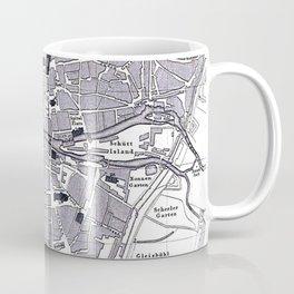 Vintage Map of Nuremberg Germany (1858) Coffee Mug