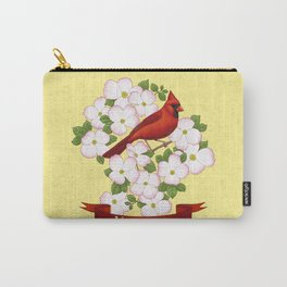 Virginia State Cardinal Bird and Flowering Dogwood Carry-All Pouch