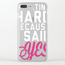 SWEATING HARD BECAUSE I SAD YES Clear iPhone Case