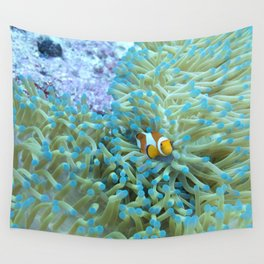 Scared little clownfish Wall Tapestry