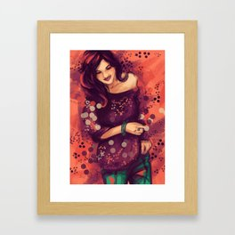into grapes Framed Art Print