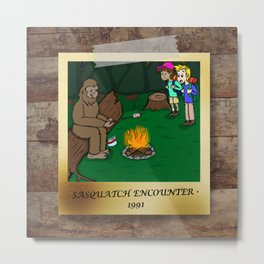 Sasquatch Encounter Metal Print