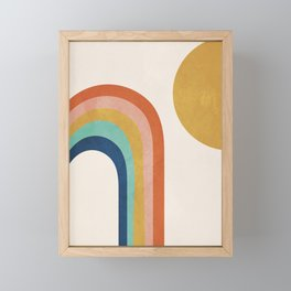 The Sun and a Rainbow Framed Mini Art Print