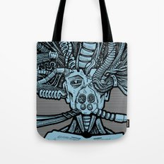 Robot on Operating Table by RonkyTonk Tote Bag