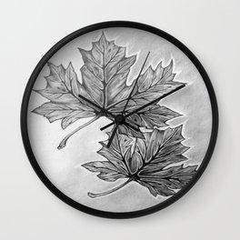 Shadow Maple Wall Clock