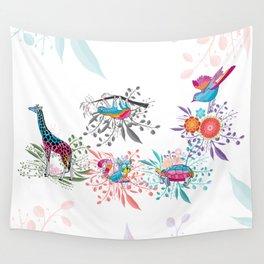 Spring Animals Jungle Safari Wall Tapestry